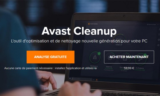 avast cleanup nettoyage optimisation